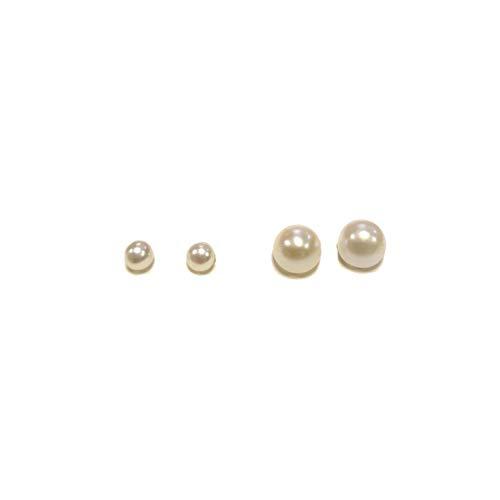 RPS4003S - Par de pendientes con perlas regulares mixtas grandes y pequeñas