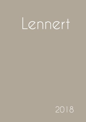 2018: Namenskalender 2018 - Lennert - DIN A5 - eine Woche pro Doppelseite
