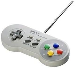 BUFFALO USBゲームパッド 8ボタン スーパーファミコン風 グレー [並行輸入品]