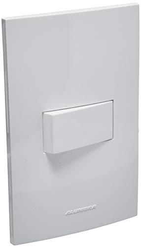 Conjunto 1 Interruptor Bipolar Paralelo com Placa 4X2, Alumbra, Inova 5497, Branco