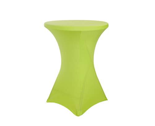 Stretch rok groen statafel 80cm