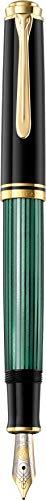 Pelikan Souverän M600 Kolbenfüllfederhalter, Schwarz/Grün