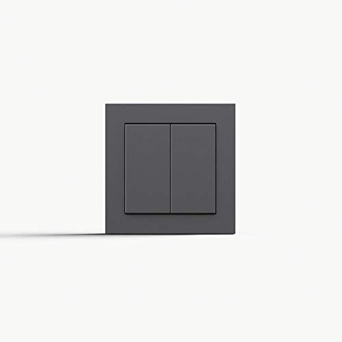 Friends of Hue Smart Switch: Kabelloser Philips Hue Schalter und Dimmer (Keine Batterien, Kein Aufladen, Exklusiv für Philips Hue Lichter), Anthrazit