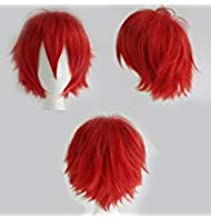 Sexybaby Anime Cosplay Synthetic Full Wig with Bangs Short Layered Fluffy Hair Oblique Fringe Unisex