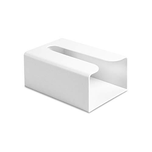 IUYJVR Toilet Paper Holder Wall Hanging Tissue Box Tissue Holder Kitchen Bathroom Under Cabinet Drawer Paper Towel Rack Napkin Holder Creative Storage Box (Color : White)