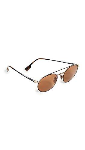 BURBERRY Gafas de Sol B FLIGHT BE 3109 GOLD/BROWN 53/19/145 hombre