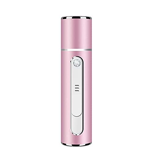 持つ価値があります - ナノフェイシャルスチーマー、携帯用クールフェイシャルミスター&加湿器、ハンディミストスプレーベイヤー保湿、スキンケア、化粧、まつげの延長、室内加湿のための水分和 (Color : Pink)