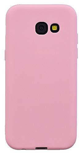 Capa para Galaxy A5 2017, YINCANG ultrafina fosca flexível TPU silicone gel borracha à prova de choque capa macia para Samsung Galaxy A5 2017/Galaxy A5 (2017) Duos 5,2 polegadas rosa