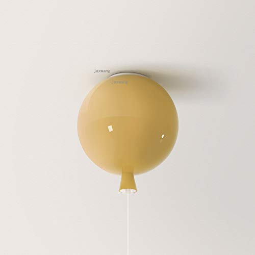Moderna decoración de la luz de la luz de techo simple Moderno Lámpara de techo de acrílico LED nórdico Lámpara de techo para niños Iluminación de techo de globo (Body Color : Light yellow)