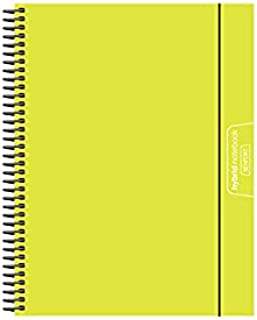 Senfort Cover Polypropylene Unicolor A4 120 Sheets 4 Colours Paper 90 GRS Notebook with Elastic and Pocket, No. 14 Lime