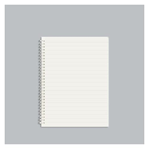 WANGYIYI 3pcs Cuaderno A5 Cuadernos de Cubierta Transparente esmerilada Bloc de Notas de Bobina de Alambre Doble de Metal Diario en Espiral de Escritura de Doble Cara para niñas, niños y Adultos