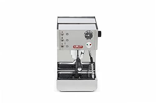 Lelit PL41LEM Anna, Máquina de Espresso Semiprofesional – Manómetro Retroiluminado - Ideal Para el Expreso, el Capuchino y las Cápsulas de Papel, 1000 W, 2 litros, Stainless Steel, plateado