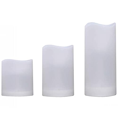 Pineapplen Flameless Plastic Pillar Candles Outdoor and Indoor Decorative,Color Changing LED Flickering Candles with Remote Control