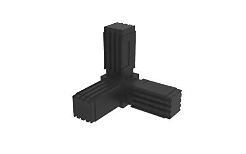 - 2 unidades // 20,00 x 20,00 mm Con ALMA de Acero en C Conectores para tubos cuadrados