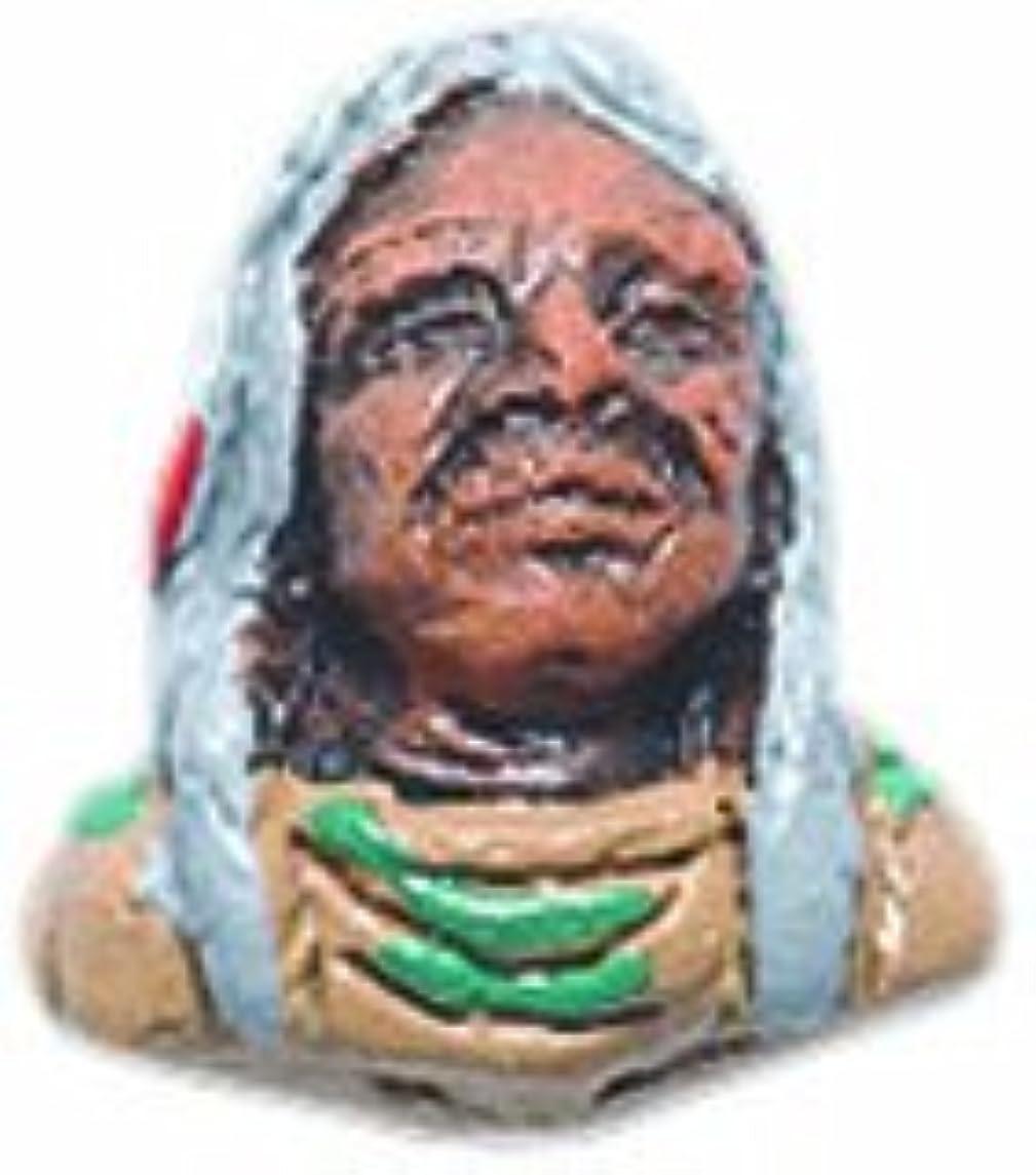 Peruvian Shipwreck Hand Crafted Ceramic Elder Native American Face Beads, 11mm, 4 Per Pack