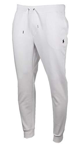 Ralph Lauren Herren Jogginghose/Freizeithose - Weiß mit schwarzem Logo (S)