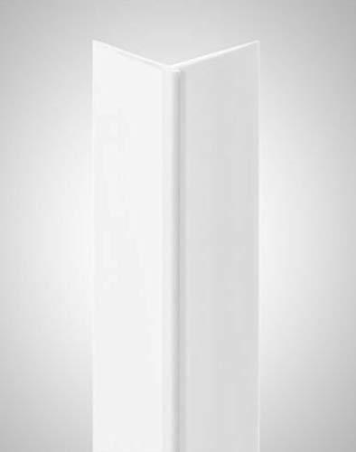 BODENMEISTER BMTEL20 Tapetenaußenwinkel Tapeteneckleiste Kunststoffwinkel, Außenwinkel, Weiß, 260 cm