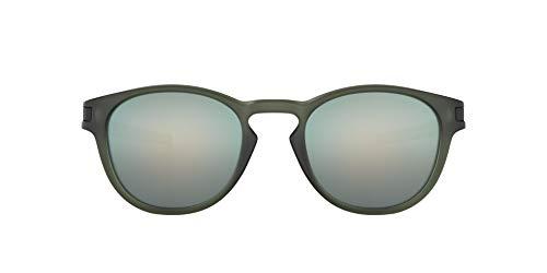 Oakley Herren Sonnenbrille Matte Olive Ink Latch mit Emerald Iridium, Mehrfarbig, 53