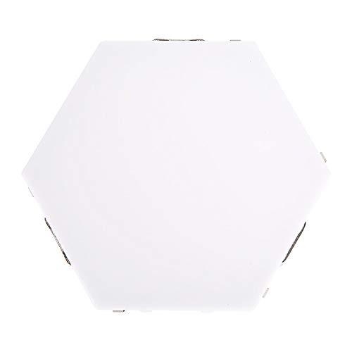 SXYB Sechseckige Wandlampe, berührungsempfindliche Lichter, kreative Geometriebaugruppe LED-Nachtbeleuchtung geeignet für Schlafzimmer, DIY-Liebhaber, Geschenke (1 Packung)