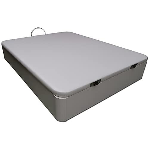 Ventadecolchones - Canapé Abatible de Madera Blanca - Gran Capacidad - 150 x 190 cm