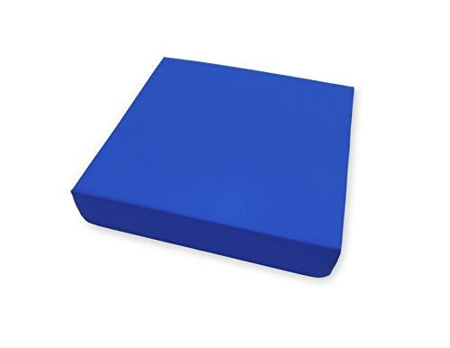 PEPE-COJÍN Antiescaras (42x42x8 cm), Cojín Silla Oficina, Cojin Antiescaras para Silla de Ruedas, Cojín Antiescaras Viscoelástico Memoria, Cojín Postural, Color Azul