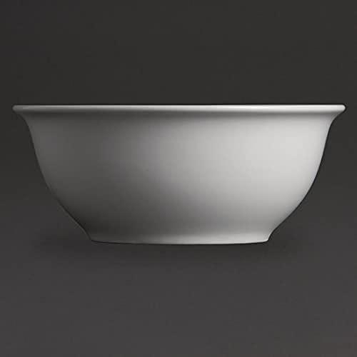 Olympia Whiteware Saladiers en Porcelaine Blanche 175mm - Vaisselle de Service Entièrement Vitrifiée - Empilable - Paquet de 6