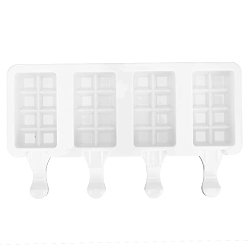 Popsicle Molds Silicone 4 Cavities DIY Ice Bar Maker Mould Ice Cream Molds For Kitchen Tool Supplies(S)