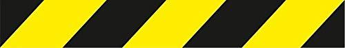 NM RD80010 - Cintas de Balizamiento Cinta para Acordonar Balizamiento Plastico 5 cm x 50 m x 0,03 mm, Negro/Amarillo