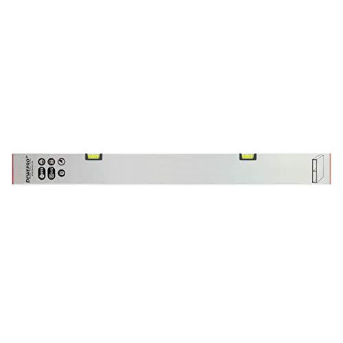 DEWEPRO® Estrich Richtlatte - Setzlatte - Abziehlatte - Putzlatte - Wasserwaage mit 2 Waagrecht-Libellen - Länge: 200cm / 2,0m