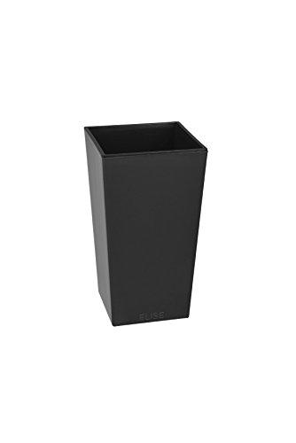 Plastkon Décoration Pot en et Pot de Fleurs Elise Brillant 15 cm extérieur, glitzern/Anthracite/Gris
