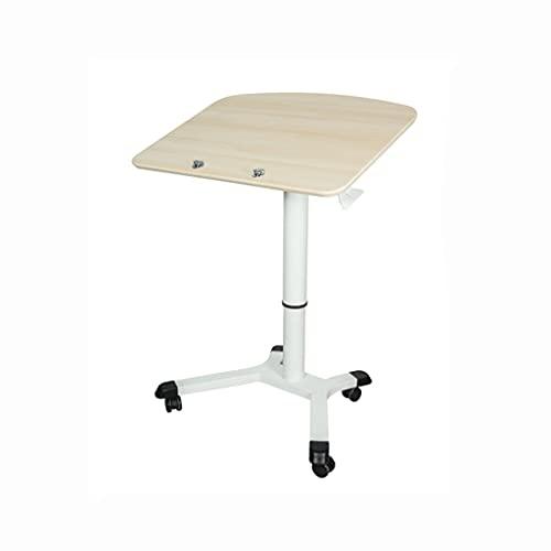 WRNM Escritorio de Altura Ajustable neumática Escritorio móvil Invisible Sookend Starfast Standing Desk Mobile Carrito de Escritorio para computadora portátil (70-110cm)