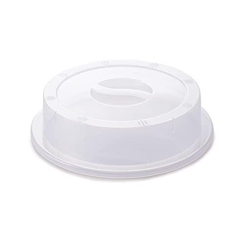 Tampa para Pratos Micro-Ondas Plasútil Amêndoa Plástico