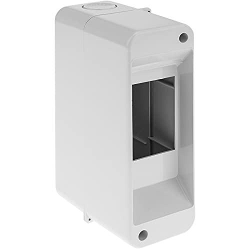 BeMatik - Caja de Superficie de automatismos eléctricos para 2 módulos de 18 mm de plástico ABS
