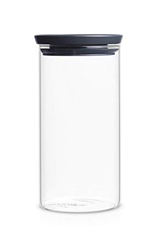 Brabantia Bocal en verre empilable, 1,1 L transparent