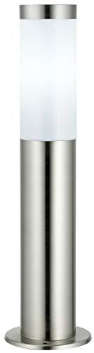 DBLV LED Stand-Außenleuchte mit & LED Leuchtmittel - Edelstahl Außenlampe Hoflampe Gartenlampe Gartenleuchte Balkon Rasen [Energieklasse A+]