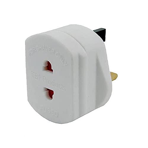 Universal EU 2 Pin to UK 3 Pin Plug Travel White Adaptor Converter Shaver Adapter Plug for Bathroom Plugs Data Line