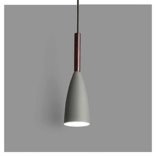 Lámpara Colgante Lámpara De Techo De Metal Moderna Lámpara Blanca Lámpara De Soporte E27 Lámpara para Cocina Isla Bar Pasillo Comedor (Color: Negro) Decoración del Hogar