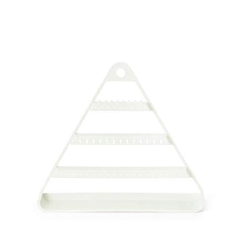 YICHOU Organizador de Joyas Colgando Triángulo Joyero Almacenamiento Pendiente Pendiente Soporte Muro Collar Collar Estante Organizador Pulsera Pulsera Hogar Organización Deco