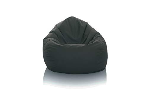 GlueckBean Gamer zitzak peer XXXL XXL XL maat lounge fauteuil zitkussen Outdoor Indoor vloer kussen gamen bank stoel met EPS piepschuim vulling X-Large antraciet.