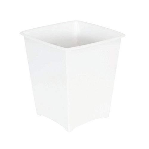 Rubbermaid FG238200WHT Square Vanity Waste Basket, 2-Gallon, White