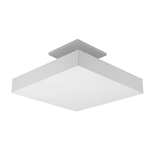 Plafon De Luz Indireta Sobrepor 35x35cm Para 4 Lâmpadas E27 Branco