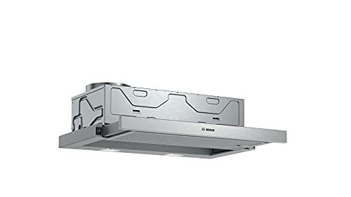 Bosch DFM064W54 Serie 2 Flachschirmhaube, B, 60 cm, Silbermetallic, wahlweise Umluft- oder Abluftbetrieb, Wippenschalter, Metallfettfilter (spülmaschinengeeignet)
