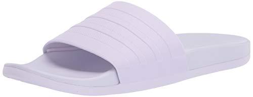 adidas Women's Adilette Comfort Slipper, Purple Tint/Purple Tint/Purple Tint, 9 M US