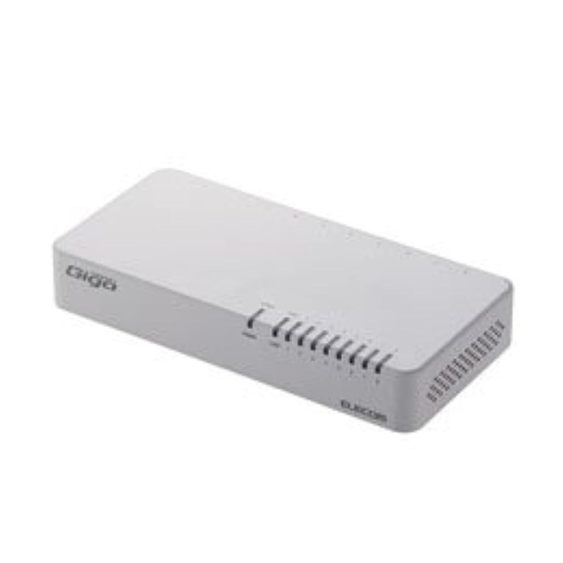 占めるページ文【まとめ 5セット】 エレコム Giga対応スイッチングHub/8ポート/プラスチック筐体/磁石付き/電源内蔵モデル/ホワイト EHC-G08PN2-JW