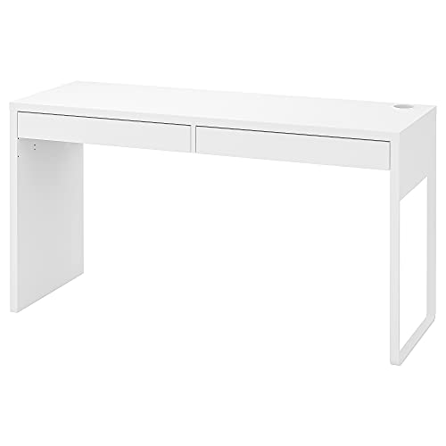Ikea MICKE escritorio 142x50 cm blanco (Blanco, 142x50 cm)
