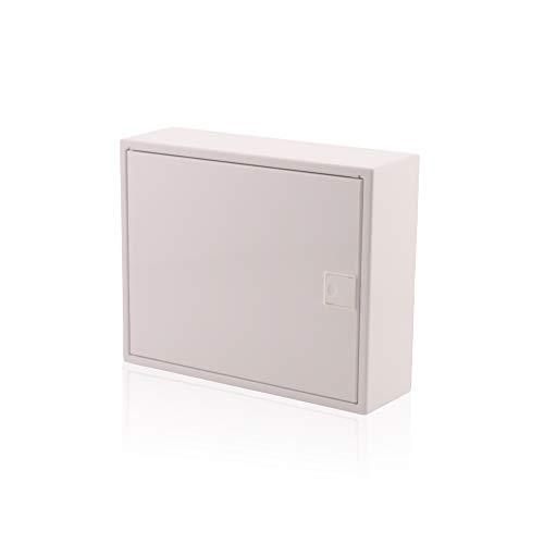Sicherungskasten 1 reihig für 12 Module IP40 Aufputz mit DIN Schiene Weiß Tür für die Trockenraum Installation im Haus