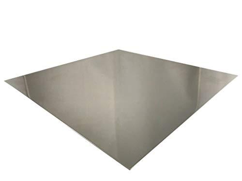 Edelstahlblech 2 mm V2A Blech K240 geschliffen 1.4301 Zuschnitte Edelstahlplatte Wunschmaß möglich (100mm x 100mm)
