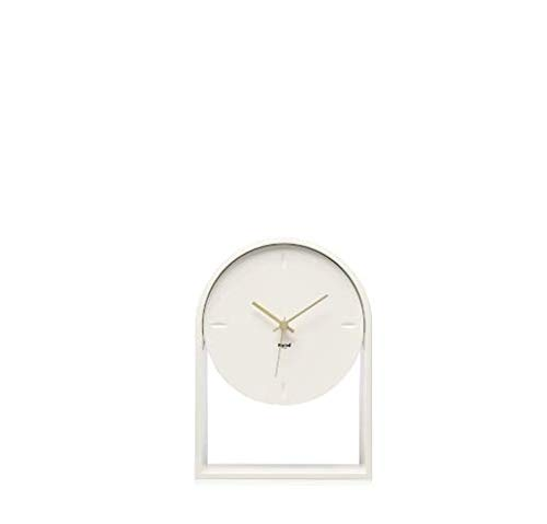 Kartell Air du Temps Orologio da Tavolo, Plastica, Bianco, 21.5 x 8 x 30 cm