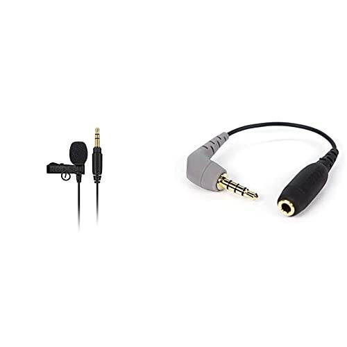 Rode Microphones Lavalier Go Micrófono Portátil Profesional, Negro + Sc4 Adaptador De Audio para Móviles, Negro
