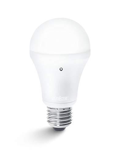Steinel spaarlamp SensorLight LED, met schemerfunctie en warmwit licht, E27-fitting, schemerschakelaar met 489, geschikt voor binnen en buiten